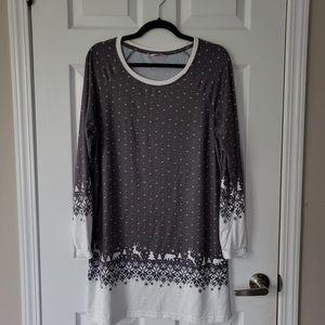 La Vie en Rose - Christmas Midi Sweater Dress